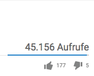 Aufrufe YouTube