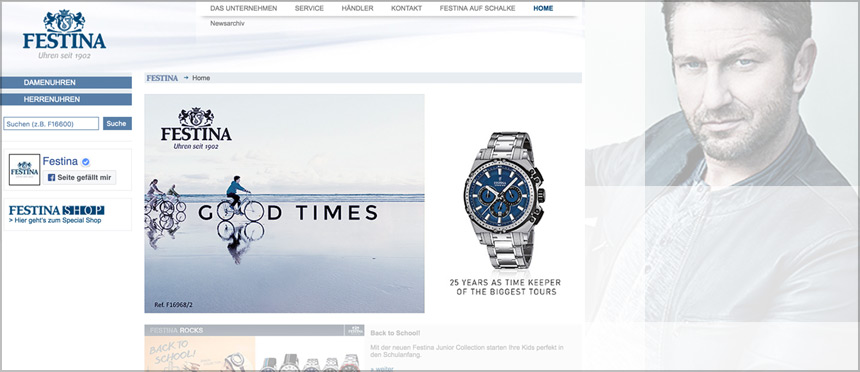 FESTINA UHREN Website