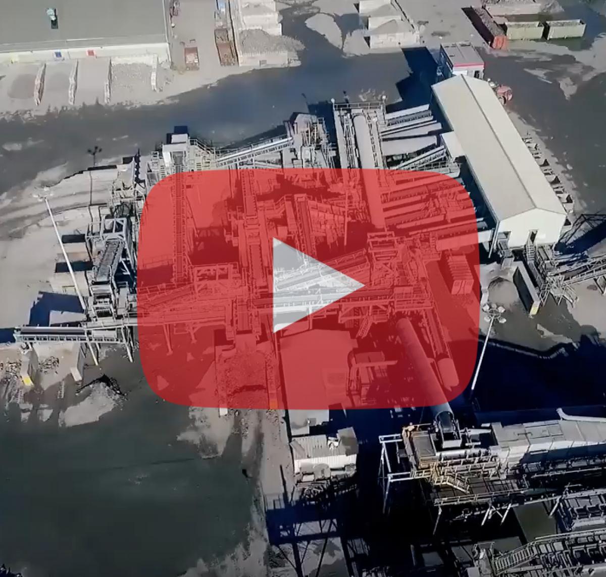 Kamerafahrt mit Drohne im Unternehmensfilm